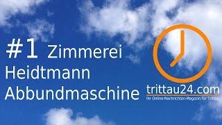 Abbundmaschine der Zimmerei Heidtmann / Trittau