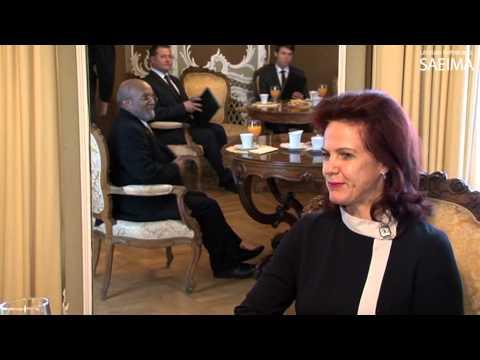 Saeimas priekšsēdētāja Solvita Āboltiņa tiekas ar Etiopijas vēstnieku
