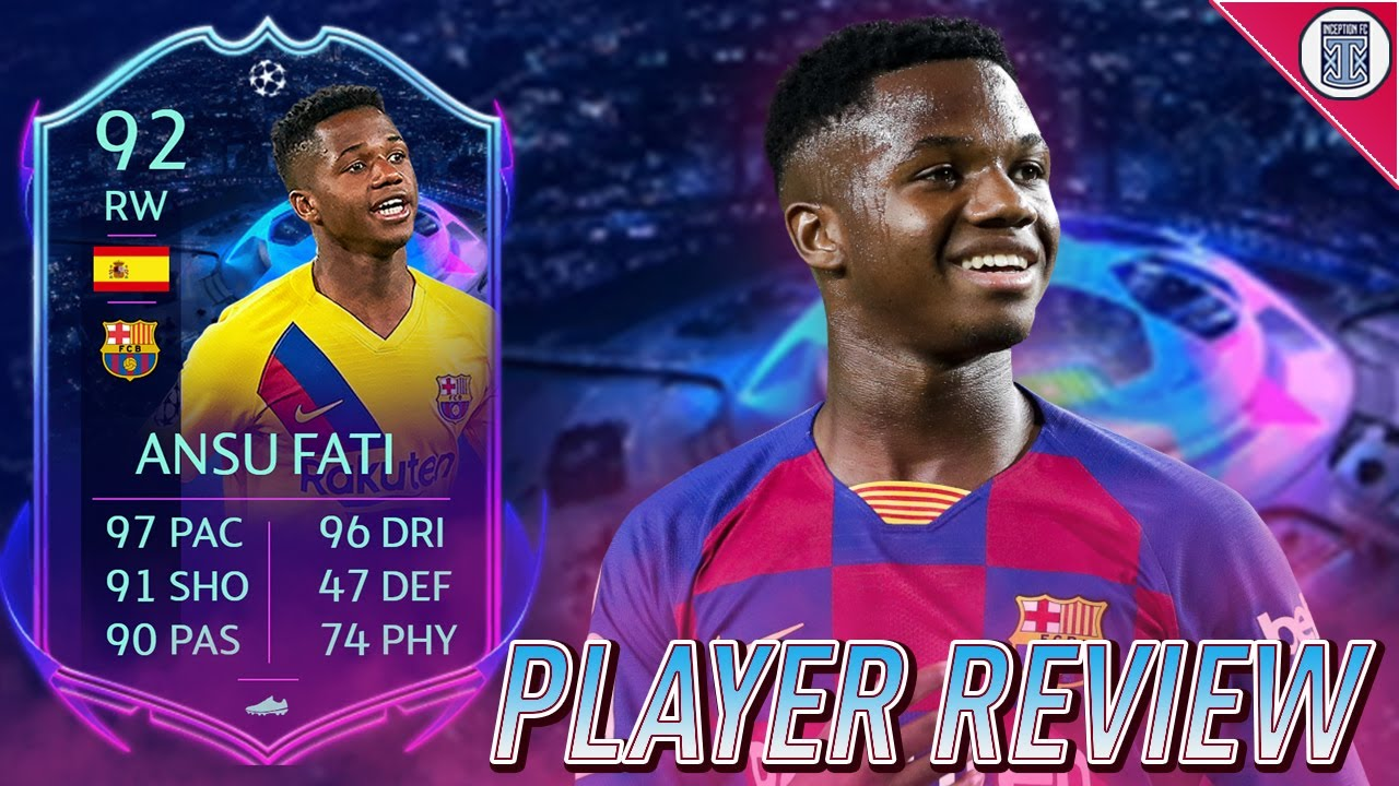 92 Rttf Ansu Fati Player Review Gameplay Objective Fifa 20 Ultimate Team Youtube