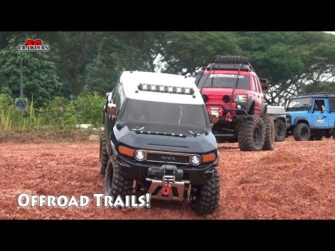 Scale Trucks 4x4 Offroad Adventures RC Toyota FJ Cruiser Land Rover Defender Jeep Wrangler RC4WD