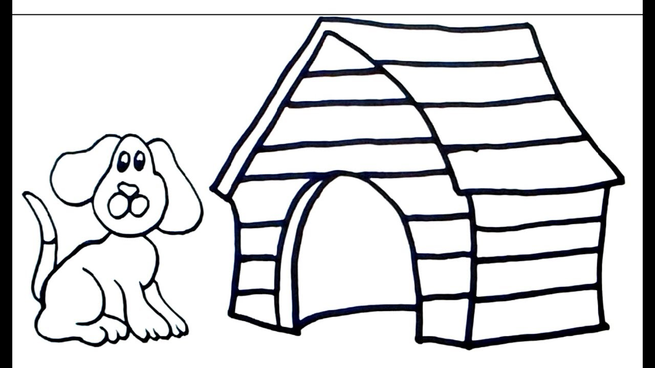 How To Draw Dog House Easy Drawing For Beginners Drawing Step By Step