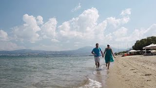 Young Couple Running On Beach Stock Video