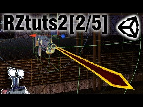RZtuts2: Bullets [2/5] Trajectory and Raycasting. Unity3D Tutorials.