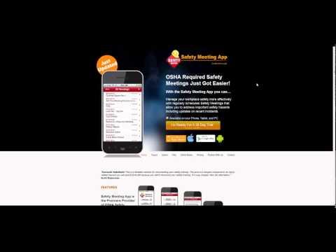 Safety Meeting App - Demo - OSHA Safety Topics