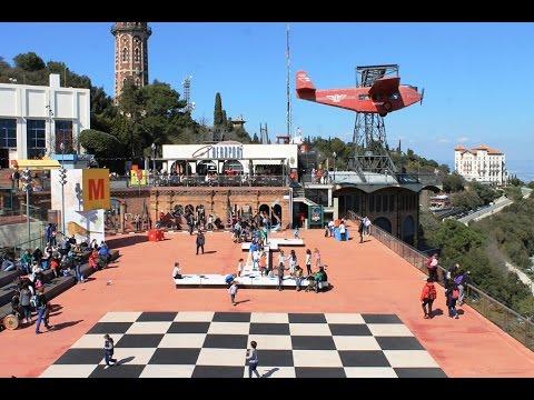 Tibidabo Amusement Park Barcelona Catalonia Spain Youtube