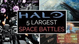 Halo: 5 Largest Space Battles (Human-Covenant War) | Halo Lore Top 5
