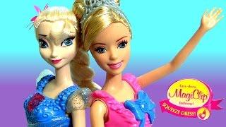 Vestidos Magiclip Princesa Cinderela e Elsa do Filme Disney Frozen Completo Dublado em Portugues
