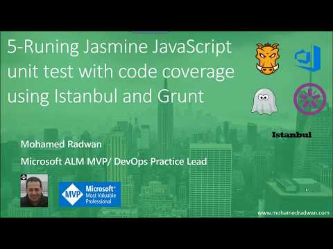 5- Running Jasmine JavaScript unit test with code coverage using Istanbul and Grunt