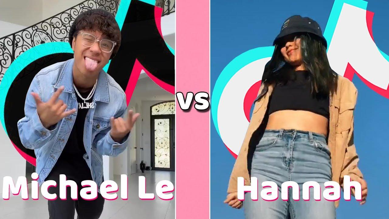 Michael Le Vs Hannah TikTok Dances Compilation 2020