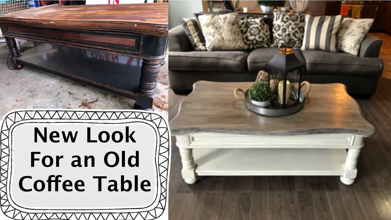 Coffee Table Makeover With Chalk Paint Youtube