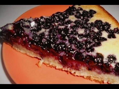 Финский пирог с черникой или