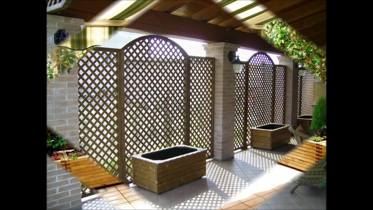 grigliati in legno composizioni giardino o balcone