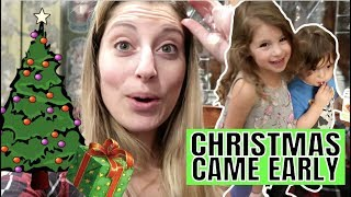 CHRISTMAS CAME EARLY FOR OUR FAMILY || UNWRAPPING THE ULTIMATE GIFT | REACTION VLOG Life with Jackie