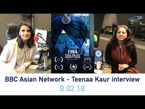 BBC Asian Network - Teenaa Kaur interview (8.02.18)