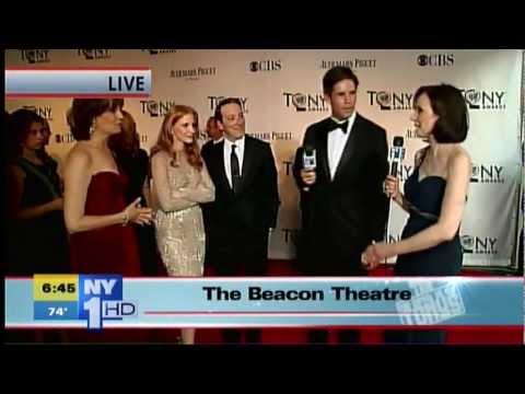 2012 Red Carpet: Jeremy Shamos, Beth Leavel, Jessica Chastain