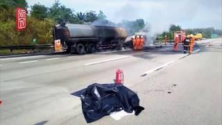 Tanker goes up in smoke, congestion on PLUS highway