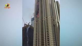 Massive Fire Erupts At Dubai Marina Sulafa Tower   Terrifying Scene   Mango News