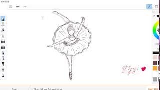 How to draw belle-dancer on your Screen?