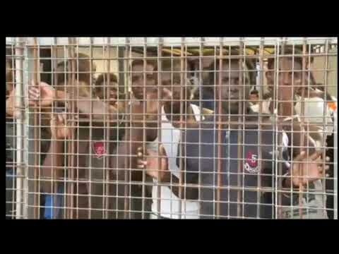 MIGRANTS BEING CAGED AT DETENTION CENTER  AFTER BEING RESCUED