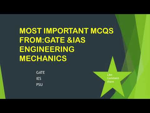 MOST Important Questions For GATE, Engineering Mechanics