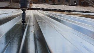як правильно зробити дах гаража з профнастилу