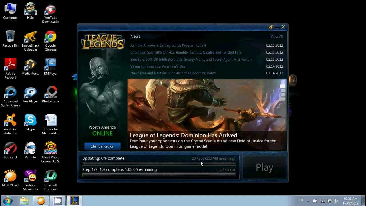 requirements for league of legends