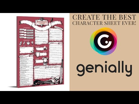 Easy Interactive RPG Character Sheets.