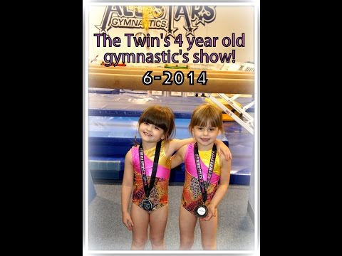 4 Year Old Twin Gymnasts At Gymnastic's Recital (Allie Gets Major Stage Fright)