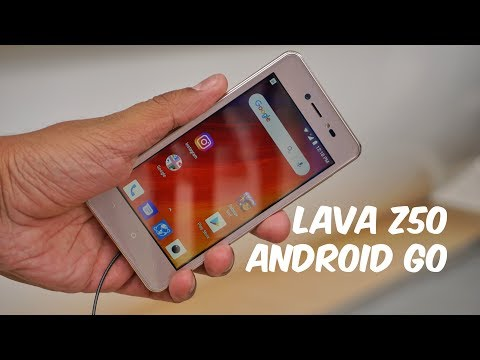 Lava Z50 Android Go Smartphone Hands-on From MWC 2018