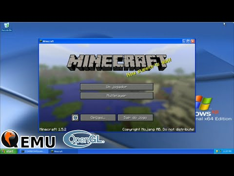 QEMU + OpenGL On Android Windows XP 64-Bit Minecraft