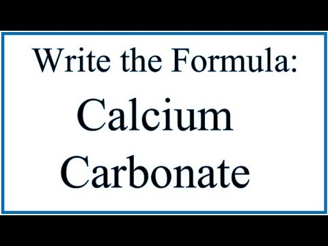 How to Write the Formula for Calcium Carbonate