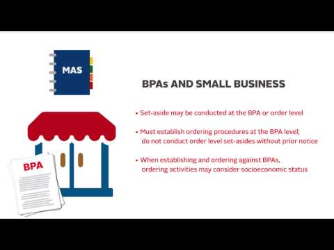 Buying Services Through GSA Schedules - BPA and CTA