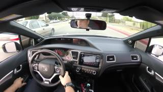 POV - Driving 2015 Honda Civic Si - New Hyper Blue STI