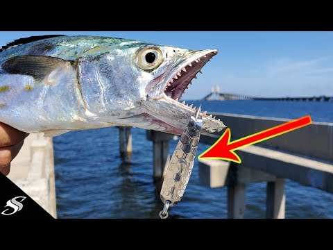Rigging A Trolling Spoon For Pier Fishing - Crazy Results!