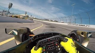 #INDYCAR In-Car Theater: Visor Cam With Ed Carpenter At Iowa Speedway