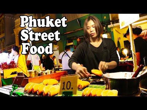Phuket Street Food at Phuket Walking Street Market. Thai Street Food in Phuket Thailand Guide
