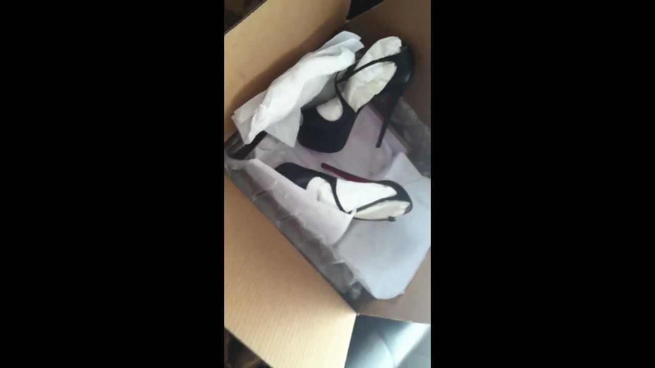 0703dcda6d9 Christian Louboutin Exagona Leather Criss-Cross Platform 160MM Sandals  UNBOXING