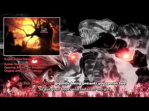 Shingeki no Kyojin - A Dinosaur (English Anime Parody Lyrics, with Karaoke)