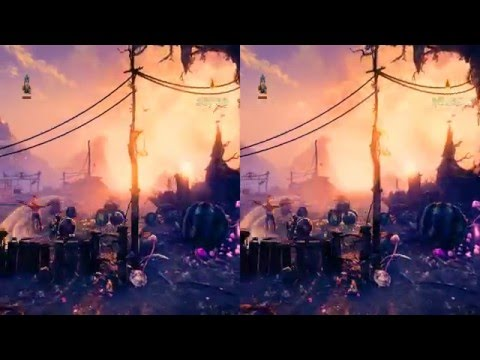 Trine 3 First Level. Side-by-side Stereoscopic 3D Crossview