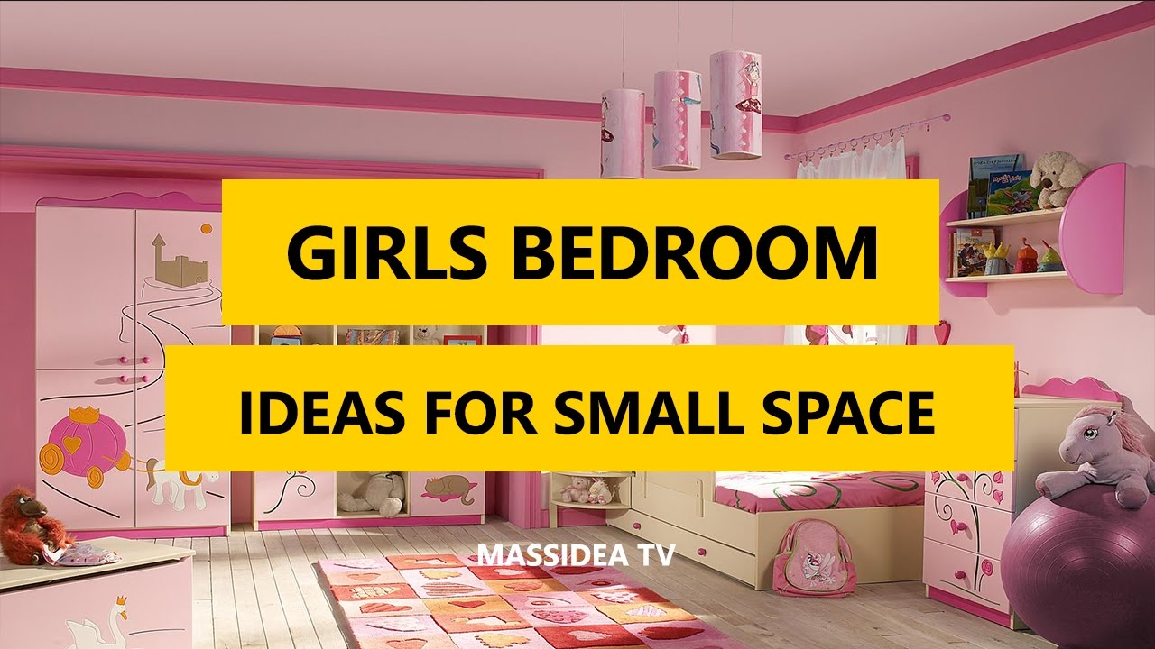 50+ Awesome Girls Bedroom Designs Ideas for Small Space ... on Girls Bedroom Ideas For Very Small Rooms  id=80462
