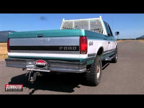 1994 -1997 Ford F-250 F-350 Performance Exhaust System Kit Flowmaster Force  II Cat Back 17211 - YouTubeYouTube