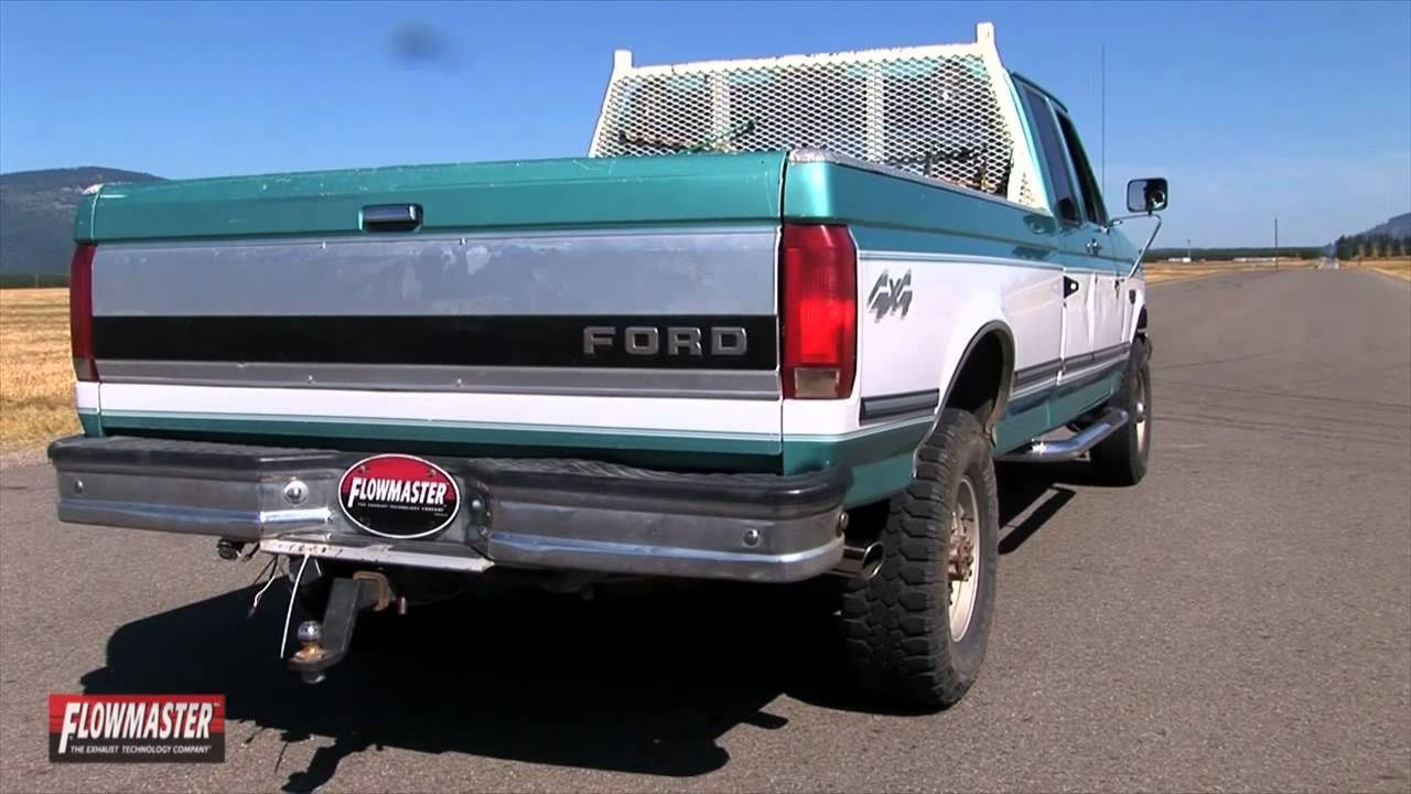 1994 1997 ford f 250 f 350 performance exhaust system kit flowmaster force ii cat back 17211