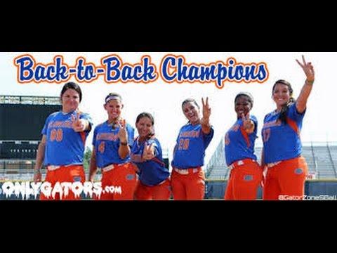 Florida Lady Gators Softball 2015 Championship Final Outs