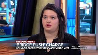 Woman who admitting to pushing girl off bridge charged ABC News