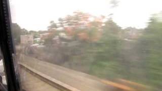 Riding Acela Express from Metropark, NJ to Washington D.C. at top speed 150 mph