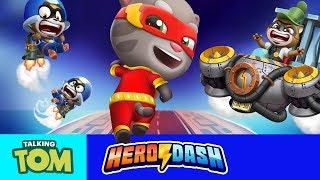 💪  Beating the Desert Boss in Talking Tom Hero Dash (Superhero Game App)