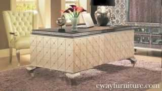 Aico Michael Amini Hollywood Swank Crystal Caviar Desk Home Office Collection