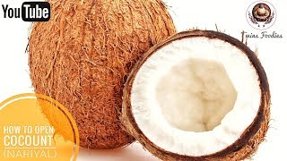How To Remove Coconut Flesh From Shell For Navratri Pooja // BY PREETI SEHDEV
