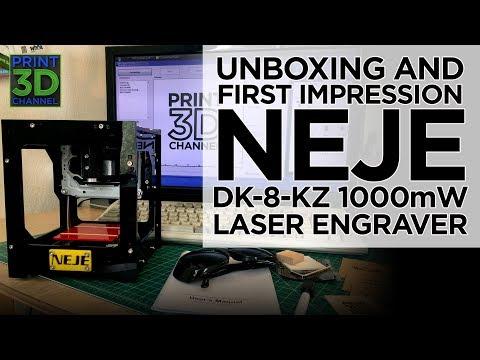 Unboxing & First Impression -NEJE DK-8-KZ 1000mW Laser Engraver