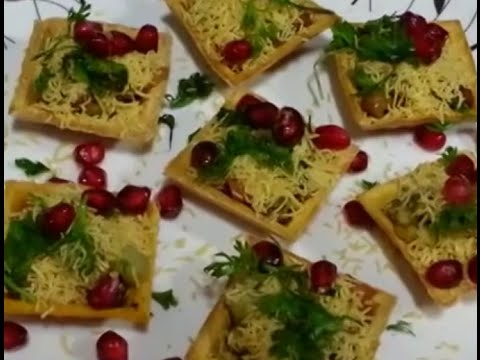 How to make canap s chat indian recipe youtube for How to make a canape